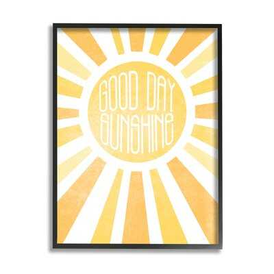 Good Day Sunshine Greeting Bright Yellow Rays - Wayfair