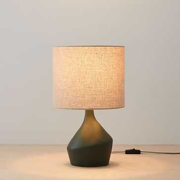 "Asymmetry Mini Table Lamp, 16.5"", Green, Set of 2 - West Elm"