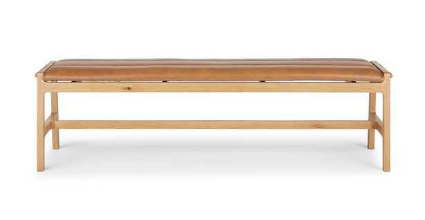 Kirun Toscana Tan Oak Bench - Article