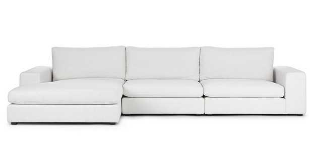 Beta Quartz White Left Chaise Sectional - Article