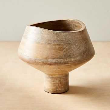 Small Bowl, Whitewash & Mango Wood - West Elm
