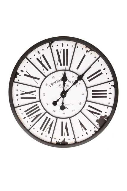 """24"""" Turn of The Century Style Metal and Wood Wall Clock - Nomad Home"""