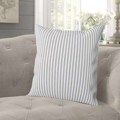Lunado Ticking Cotton Throw Pillow - Wayfair