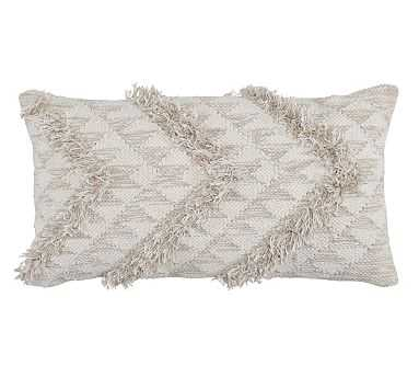 """Cassidy Pillow Cover, 14"""" x 26"""", Natural - Pottery Barn"""