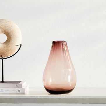 Pure Glass Vase, Raindrop, Currant, Small - West Elm