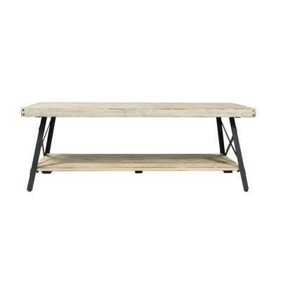 Kinsella Solid Wood 4 Legs 1 Table with Storage - Wayfair
