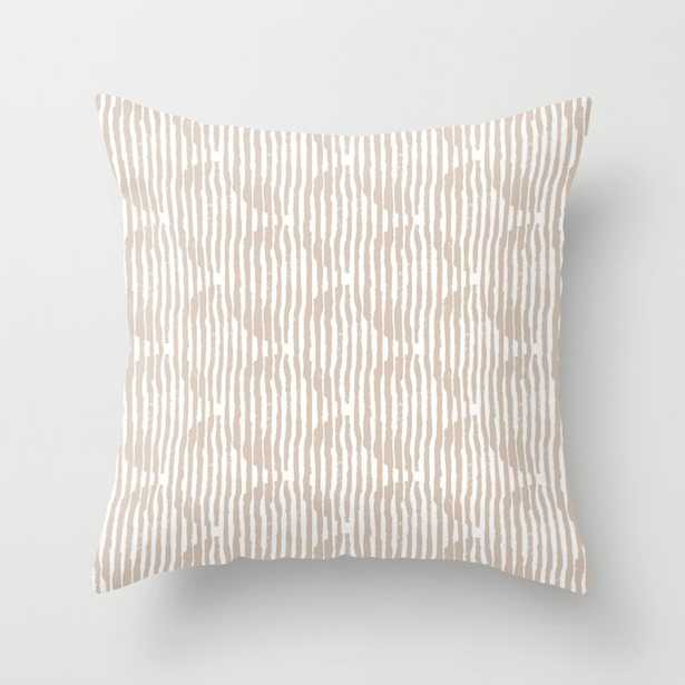 """Zen Circles Block Print In Natural Couch Throw Pillow by Becky Bailey - Cover (20"""" x 20"""") with pillow insert - Outdoor Pillow - Society6"""