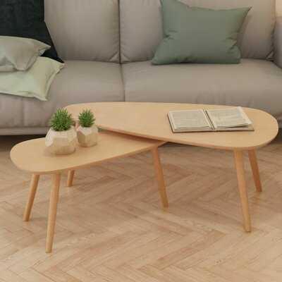 Chiara 3 Legs 2 Nesting Tables - Wayfair