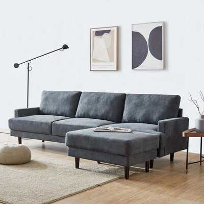 Radstock 104.6'' Wide Reversible Sectional with Ottoman - Wayfair