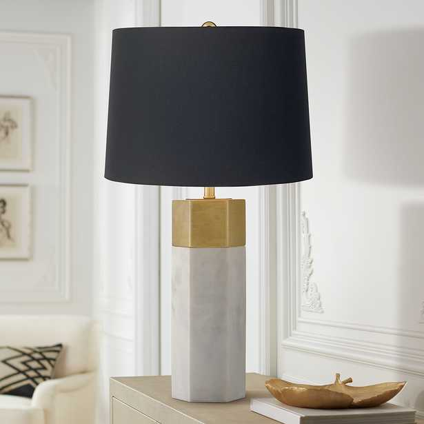 Possini Euro Leala Luxe Modern Table Lamp with Black Shade - Style # 91T61 - Lamps Plus