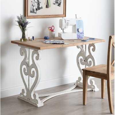 Milne Solid Wood Desk - Wayfair