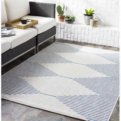Jazlyn Geometric Navy Indoor / Outdoor Area Rug - Wayfair