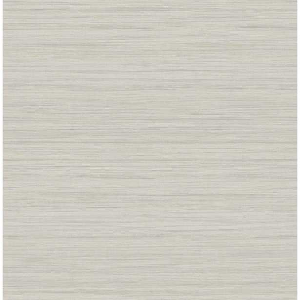 Brewster Wallcovering Barnaby Light Grey Faux Grasscloth Strippable Wallpaper Covers 56.4 sq. ft. - Home Depot
