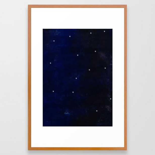 Starry Sky Framed Art Print by Georgiana Paraschiv - Conservation Pecan - LARGE (Gallery)-26x38 - Society6