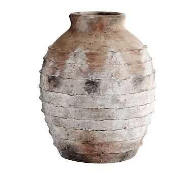 Artisan Vase, Natural - Ribbed - Pottery Barn
