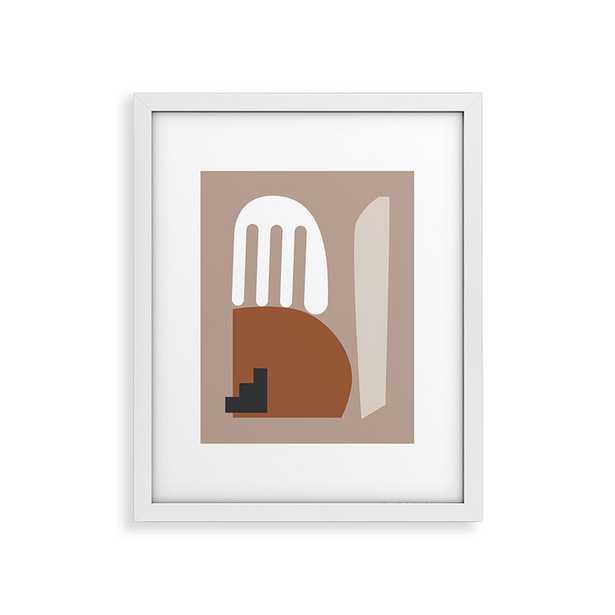 "Shape Study 10 by mpgmb - Modern Framed Art Print White 24"" x 36"" - Wander Print Co."