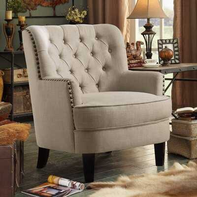"Ivo 30"" Wide Tufted Wingback Chair - Wayfair"