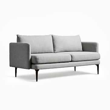 Auburn Sofa, Poly, Twill, Silver, Dark Mineral - West Elm