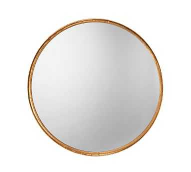 """Refined Round Mirror, Gold, 36"""" - Pottery Barn"""