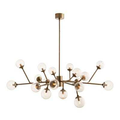 Althoff 18 - Light Sputnik Modern Linear Brass Chandelier - Wayfair
