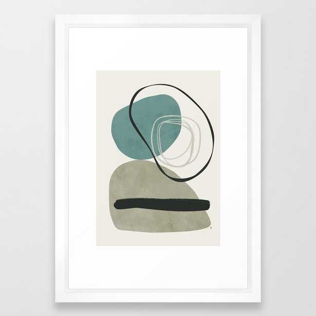 Calo Framed Art Print by Tracie Andrews - Vector White - SMALL-15x21 - Society6