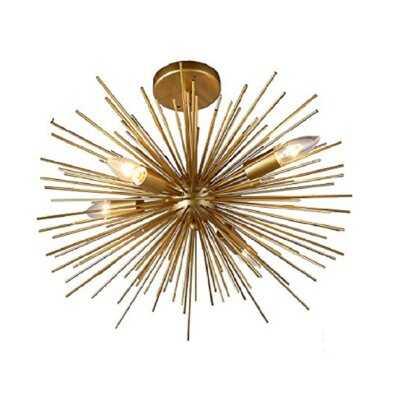 "Basso 4 -Light 20"" Sputnik Sphere Semi Flush Mount - Wayfair"