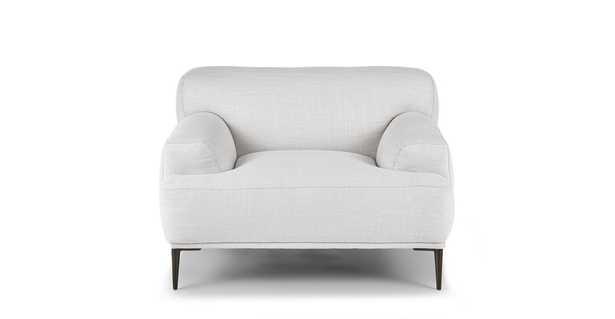 Abisko Quartz White Lounge Chair - Article
