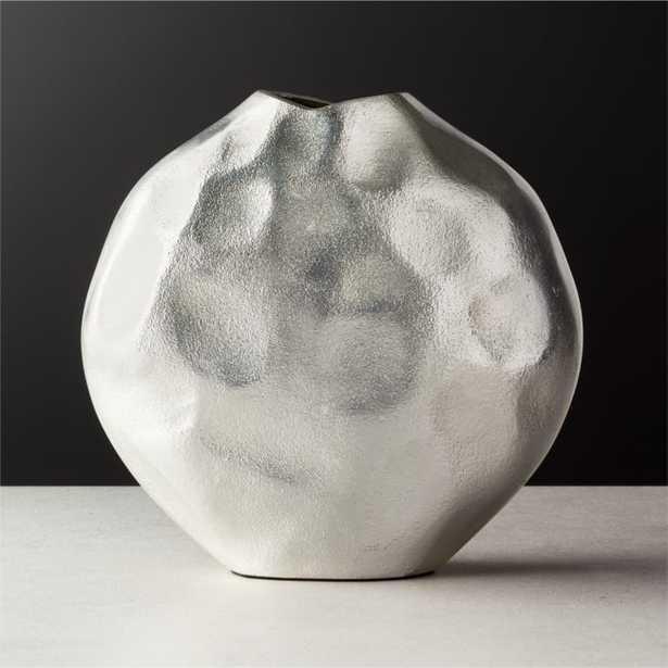 Niello Round Cast Aluminum Vase - CB2