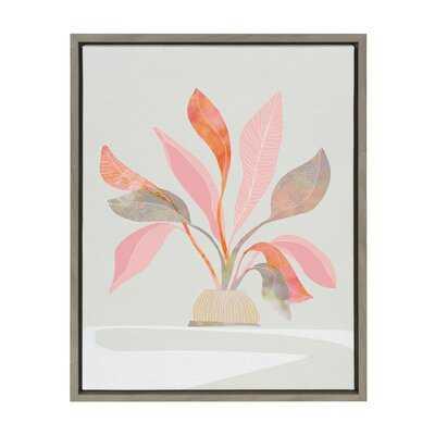 'DV 19 63 House Jungle Plant 1' by Dominique Vari - Floater Frame Painting Print on Canvas - Wayfair