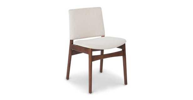 Nosh Chalk Gray Walnut Dining Chair (Set of 2) - Article