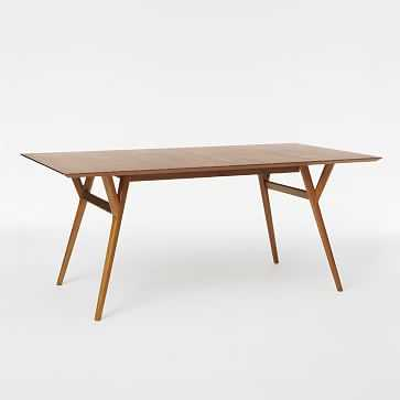 """Mid-Century Expandable Dining Table, 72-92"""", Walnut - West Elm"""