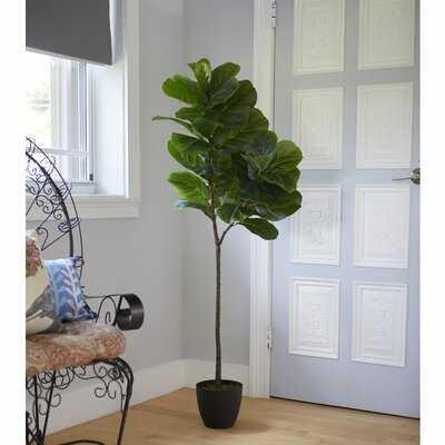 Artificial Fiddle Leaf Tree in Planter - Wayfair