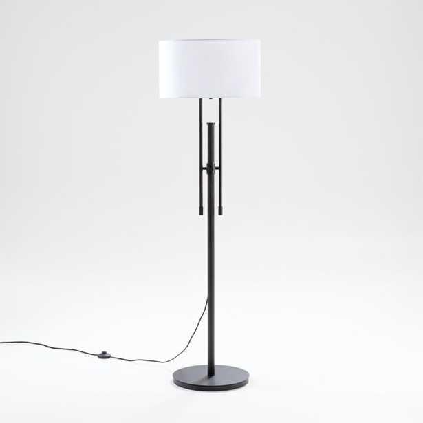 Cameron Bronze Adjustable Floor Lamp - Crate and Barrel