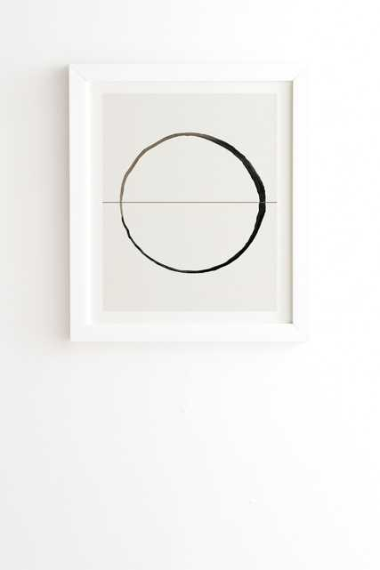 "Framed Wall Art White, C7, 14"" x 16.5"" - Wander Print Co."