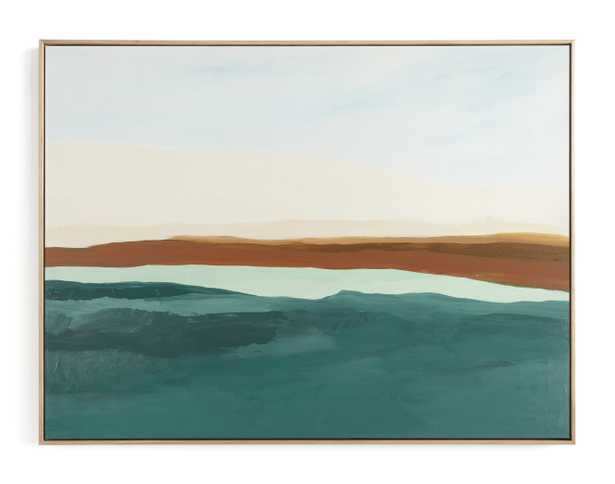 Fall Abstract Seascape Art Print, 40x30 - Minted