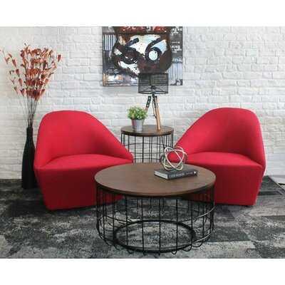Helsel Industrial Wire Coffee Table - Wayfair