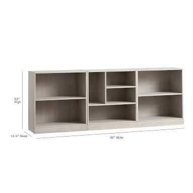 Stack Me Up Low Bookcase Set, Simply White - Pottery Barn Teen
