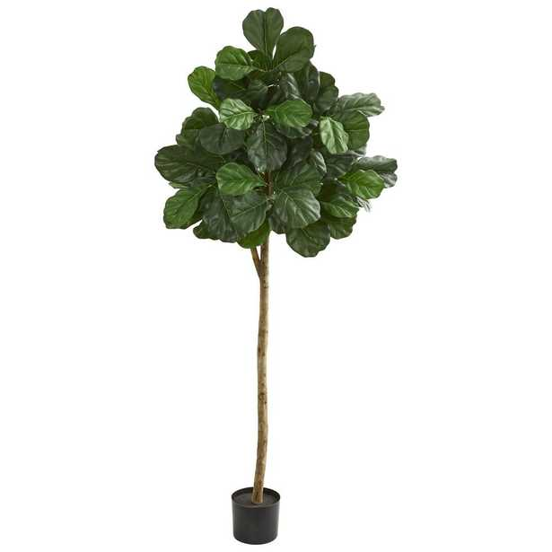 Nearly Natural Indoor 6 in. Fiddle leaf fig Artificial Tree - Home Depot