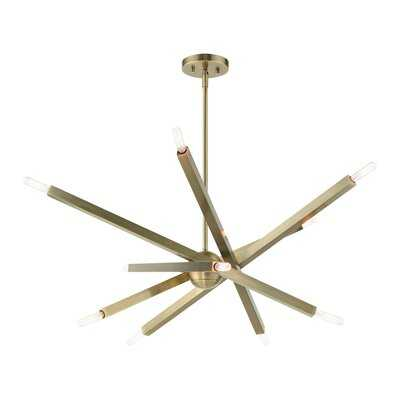 Nora 10 - Light Sputnik Modern Linear Chandelier - Wayfair