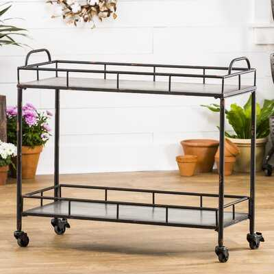 Quan 2-Tier Galvanized Bar Cart - Birch Lane