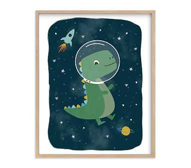 Minted(R) Dinos in Space Wall Art by Annie Holmquist; 16x20, Natural - Pottery Barn Kids