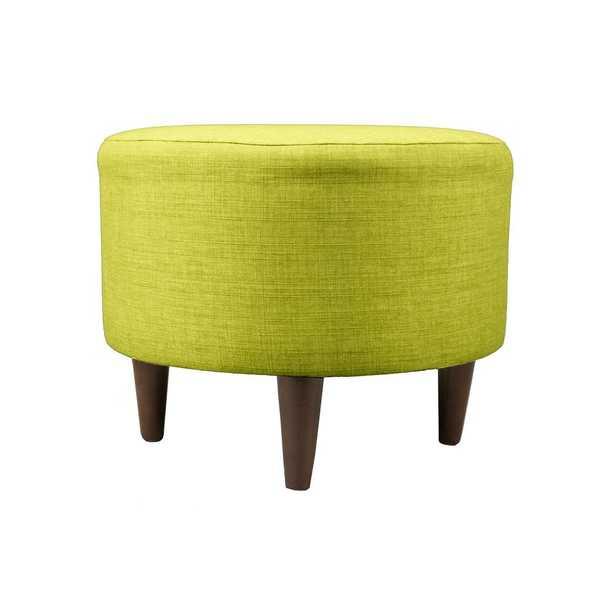 MJL Furniture Designs Sophia Bennett Lime (Green) Round Upholstered Ottoman - Home Depot