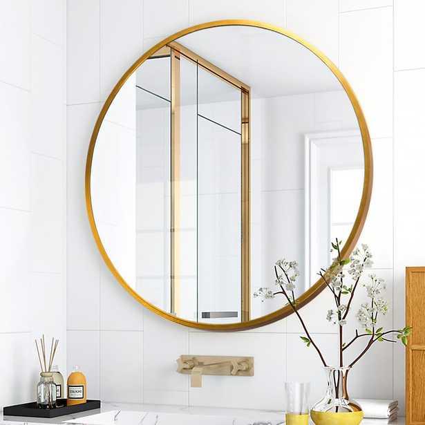 Neu-Type Modern/Elegant Round Hanging/Wall Mounted Bathroom Vanity Mirror - Home Depot