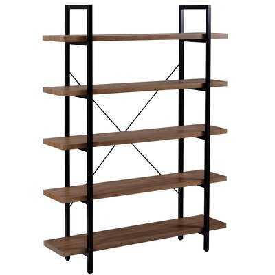 """Gattaca 63"""" H x 47"""" W Steel Etagere Bookcase - Wayfair"""