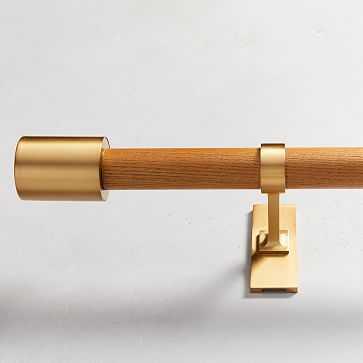 "Mid-Century Rod, Wood/Brass, 44""-108"" - West Elm"