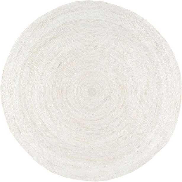 nuLOOM Rigo Chunky Loop Jute Off-White 5 ft. Round Rug, Beige - Home Depot