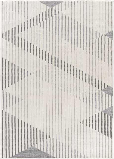 "Pisa Rug, 7'10"" x 10', Gray - Neva Home"