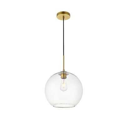 Effie 1-Light Single Globe Pendant - AllModern