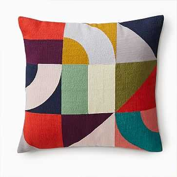 """Margo Selby Puzzle Geo Pillow Cover, 20""""x20"""", Multi - West Elm"""
