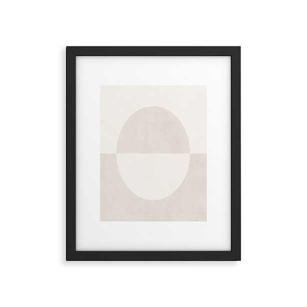 "Round by almostmakesperfect - Modern Framed Art Print Black 18"" x 24"" - Wander Print Co."